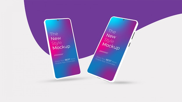 Realistisch smartphonemodel. schoon smartphone-mockup