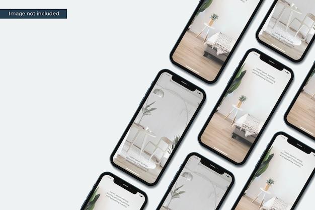 Realistisch smartphonemodel voor ontwerppresentatie
