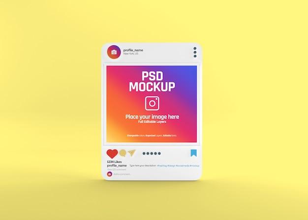Realistisch social media instagram-postmodel