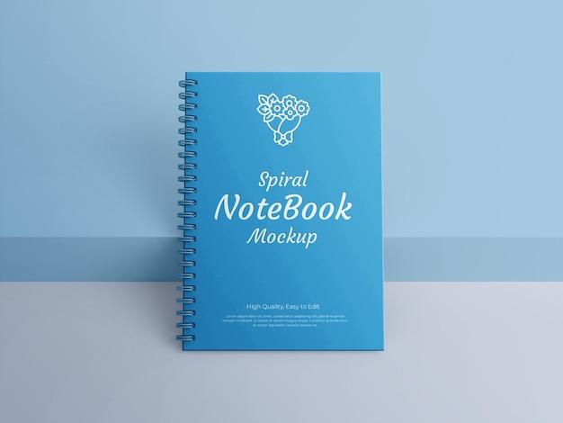 Realistisch spiraalvormig notebookmodel
