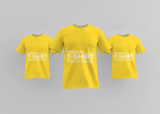 Realistisch t-shirtmodelontwerp voor modeconcept