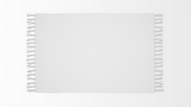 Realistisch wit tapijt op bovenaanzicht