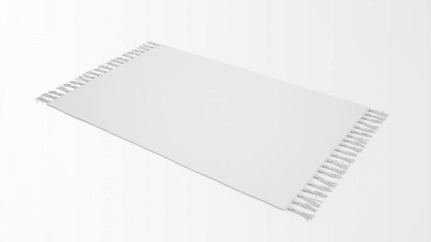 Realistisch wit tapijt