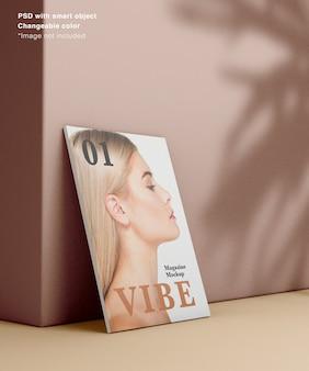Realistisch zijaanzicht van het tijdschrift