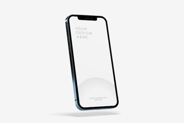 Realistisch zwevend smartphonemodel