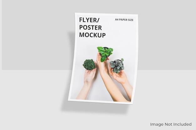 Realistische a4 flyer brochure mockup ontwerp