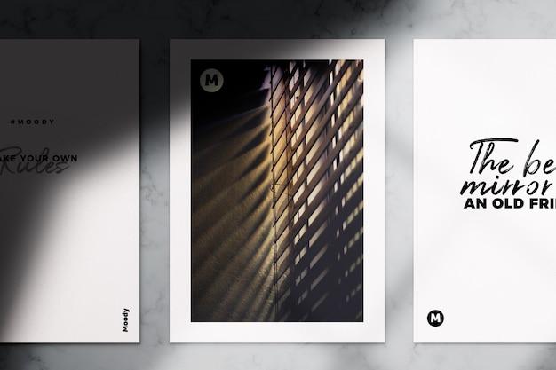 Realistische a4 flyer en brochure mockup