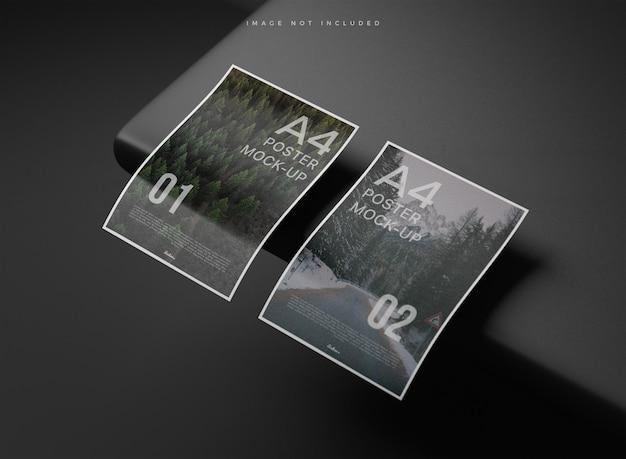 Realistische a4-papieren mockup