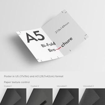 Realistische a5 brochure presentatie