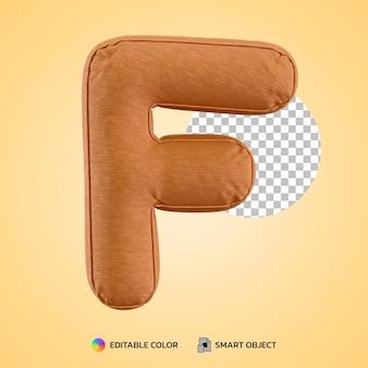 Realistische alfabet kussen letter f vorm