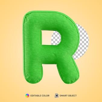 Realistische alfabet kussen letter r vorm