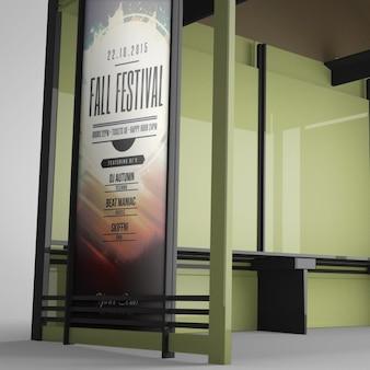 Realistische billboard presentatie