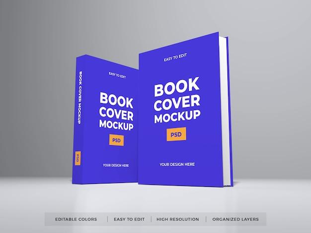 Realistische boeken omslagmodel