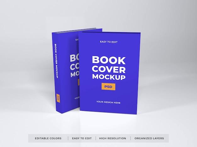 Realistische boekomslag mockup sjabloon