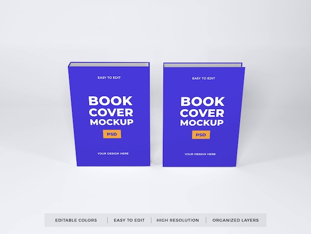 Realistische boekomslagmodel