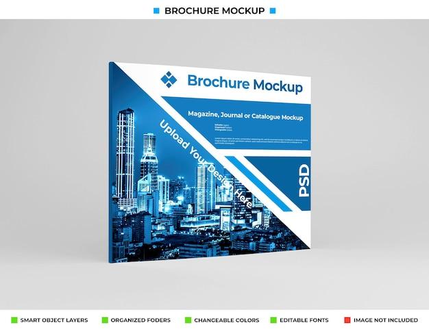 Realistische brede brochure, dagboek of boekje