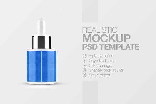 Realistische cosmetische fles serum mockup