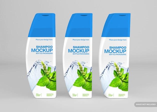 Realistische cosmetische shampoofles mockup