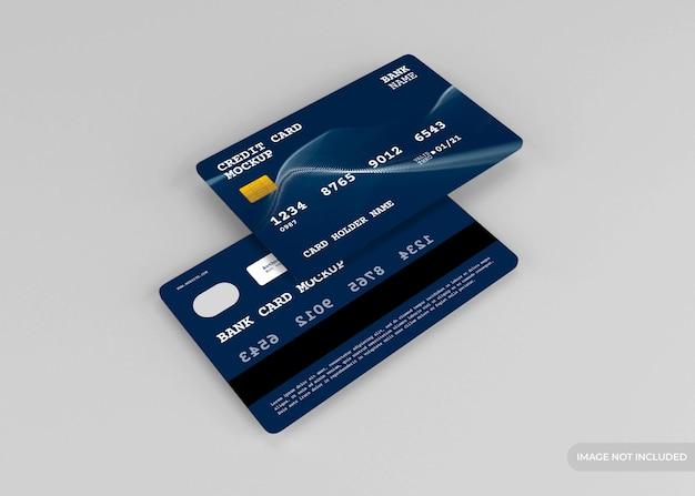 Realistische creditcard mockup ontwerp geïsoleerd