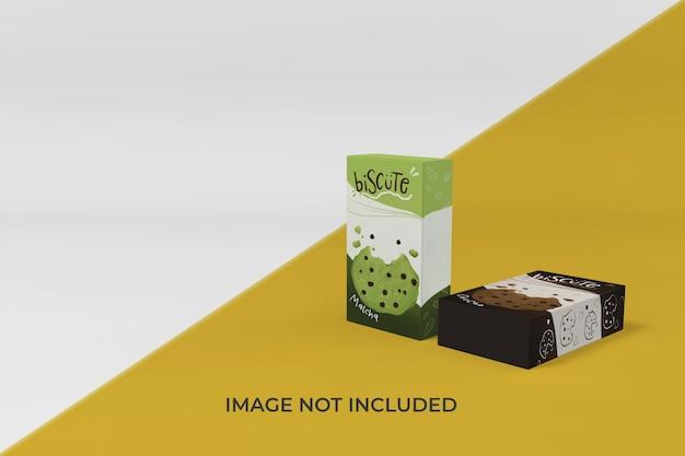 Realistische doos verpakking mockup ontwerpsjabloon
