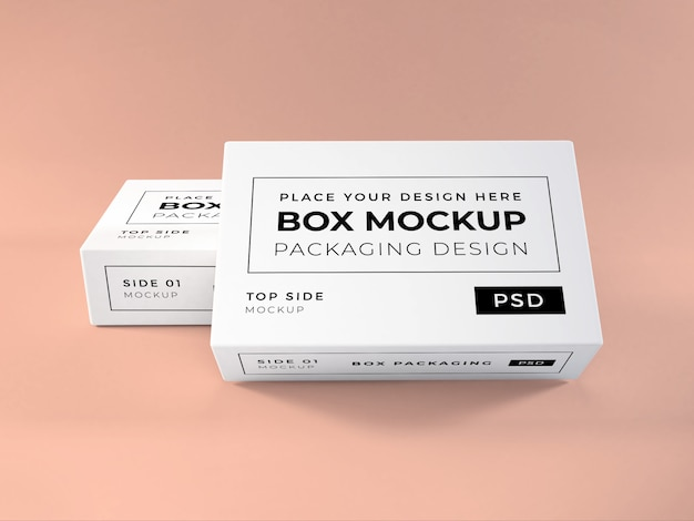 Realistische doosverpakking mockup
