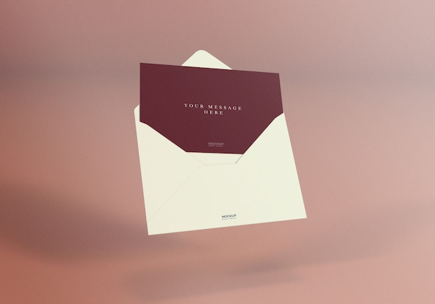 Realistische elegante envelop mockup design