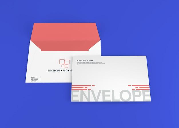 Realistische envelop mockup geïsoleerd