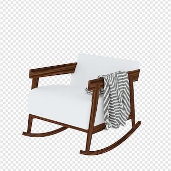 Realistische fauteuil in 3d-rendering