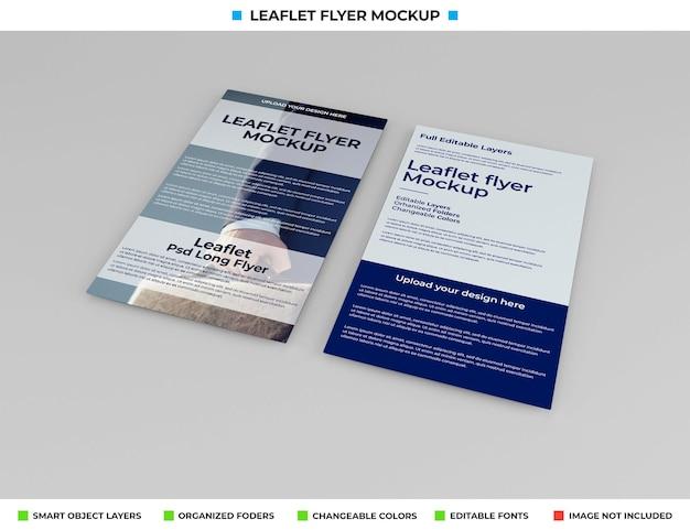 Realistische folder flyer mockup ontwerp