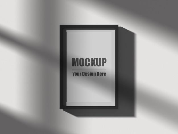 Realistische frame mockup 3d-rendering
