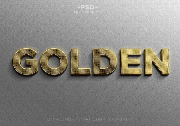 Realistische gouden bewerkbare teksteffecten