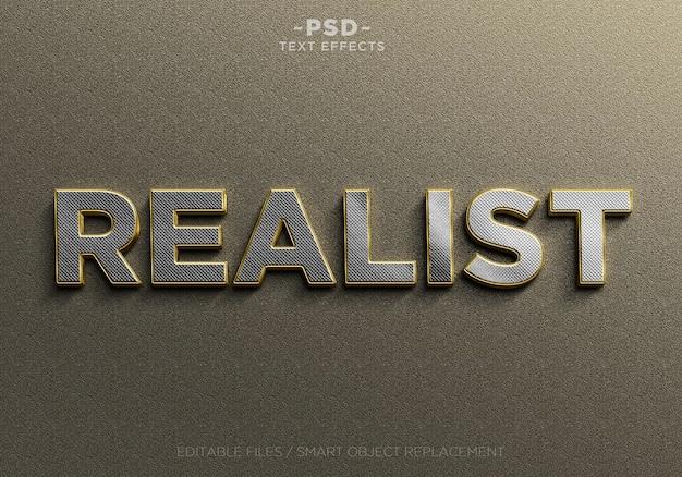 Realistische gouden en zilveren bewerkbare teksteffecten