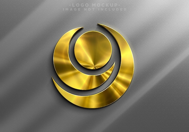 Realistische gouden logo-mockup