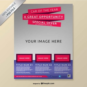 Realistische gratis brochure mock-up