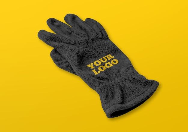 Realistische handschoenen mockup ontwerpweergave