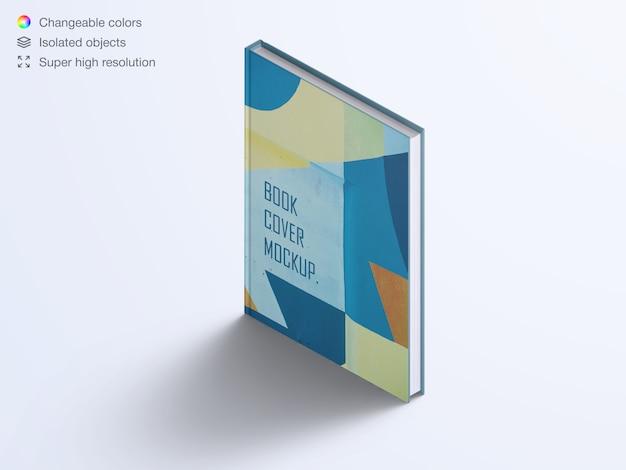 Realistische hoge hoek verticaal boek hardcover mockup