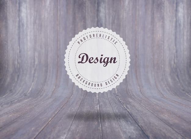 Realistische houtstructuur achtergrond ontwerp