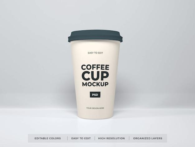 Realistische koffiekopje mockup