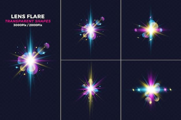 Realistische krachten crashen licht lensflare-effect