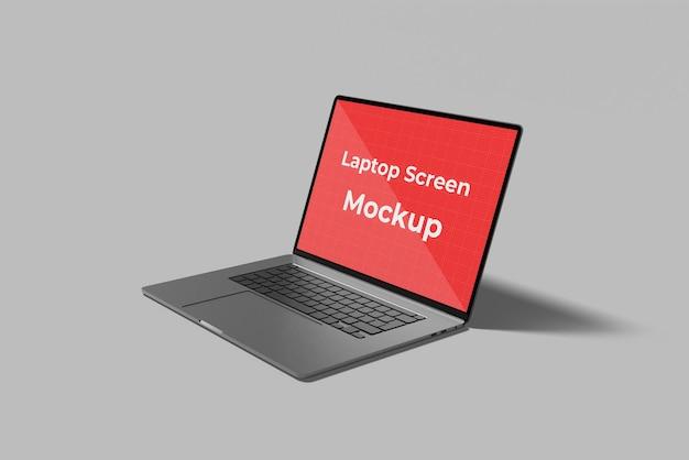 Realistische laptop notebook scherm mockup ontwerp
