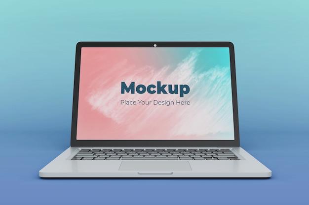 Realistische laptop scherm mockup ontwerpsjabloon