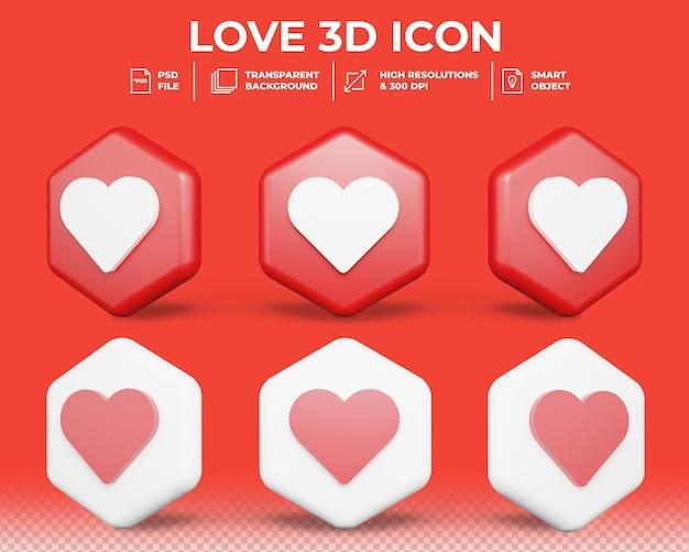 Realistische liefde of soortgelijk teken 3d pictogram