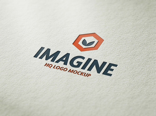 Realistische logo mockup boekdruk