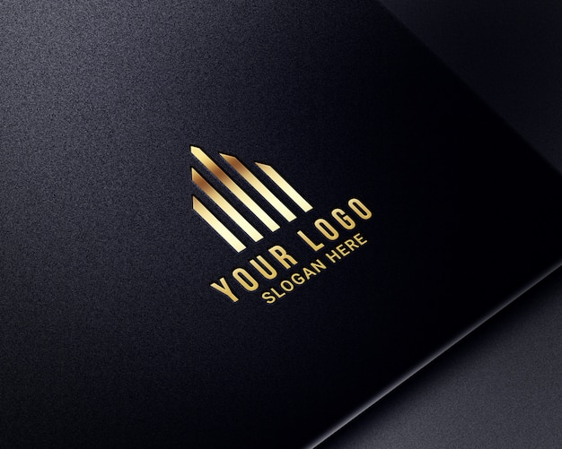 Realistische luxe gouden logo-modellen