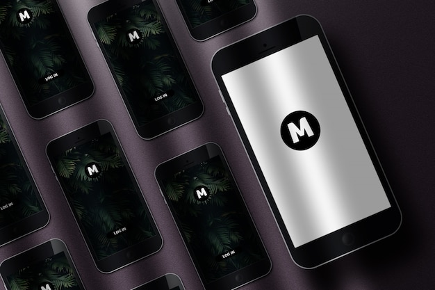 Realistische mockup mobiele telefoon
