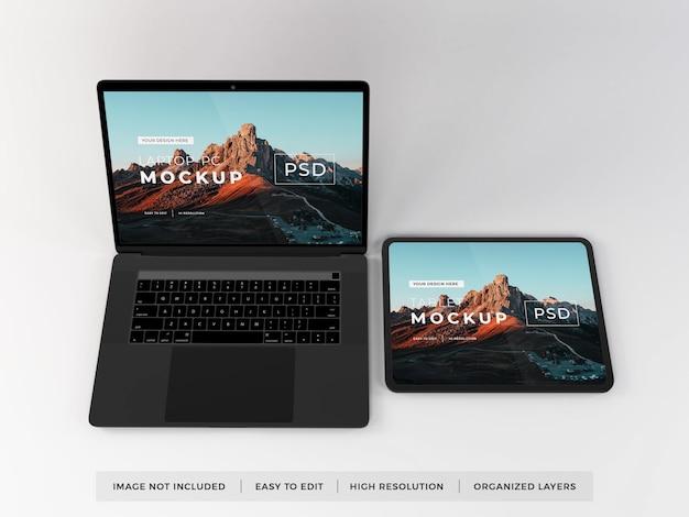 Realistische mockup voor laptops en tablets