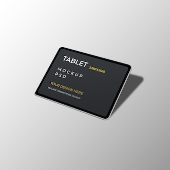 Realistische mockup voor tabletinterface