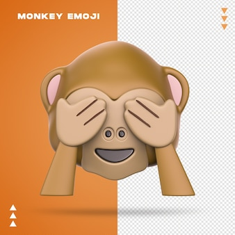 Realistische monkey emoji