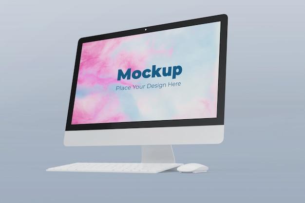 Realistische ontwerpsjabloon voor computer mockup