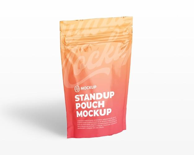 Realistische opstaande zak met ritszakverpakkingsmodel